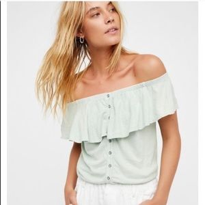We the Free | small | moss love letters tube top